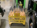Sunoco Motor Oil Glass Bottles and Display