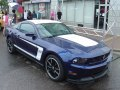 2012 Ford Mustang Boss 302 in Kona Blue at the Woodward Dream Cruise Ford Display