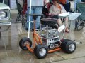 Gas powered racing barstool.