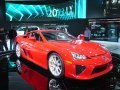 The racing inspired 2012 Lexus LFA, 0 to 60 mph in 3.6 seconds/top speed of 202mph on a V10 powerplant.