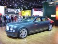2012 Bentley Mulsanne in Thunder Metallic exterior and Magnlia/French Navy w/Birds Eye Maple interior