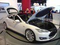 2012 Tesla Model S, 0 to 60 mph in 4.4 seconds and a top speed of 130 mph with the 85 kWh battery